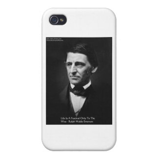 """Emerson """"Life Is Festival"""" Quote Gifts Mugs iPhone 4/4S Case"""