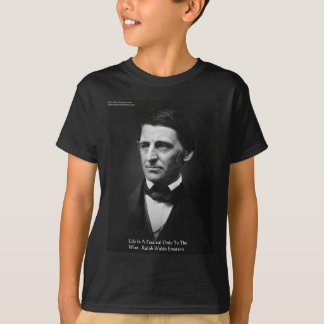 """Emerson """"Life Is Festival"""" Quote Gifts Tees Mugs"""