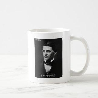 "Emerson ""Life Is Festival"" Quote Gifts Tees Mugs Coffee Mug"