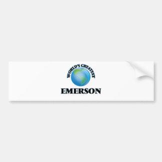 Emerson más grande del mundo pegatina de parachoque