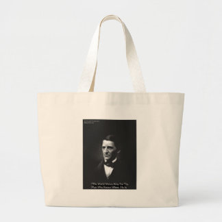 "Emerson ""Men Who Know"" Wisdom Quote Gifts CardsEtc Large Tote Bag"