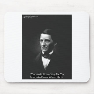 """Emerson """"Men Who Know"""" Wisdom Quote Gifts CardsEtc Mouse Pad"""