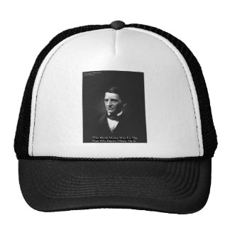 """Emerson """"Men Who Know"""" Wisdom Quote Gifts CardsEtc Trucker Hat"""