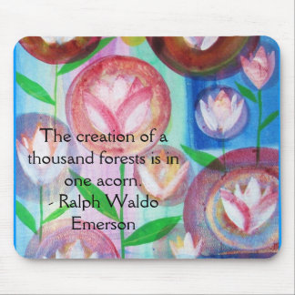EMERSON Motivation and  Self-Improvement quote Mouse Pad
