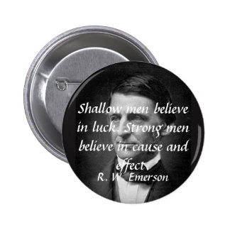 Emerson on Strong People Pinback Button