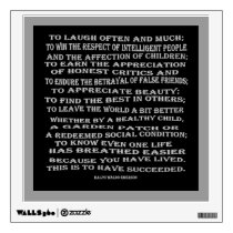 emerson on success wall decal