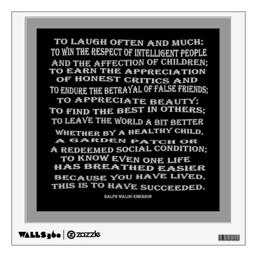 emerson on success wall decals