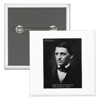 """Emerson """"Pace Of Nature"""" Wisdom Quote Gifts & Tees Buttons"""