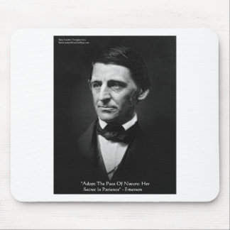 """Emerson """"Pace Of Nature"""" Wisdom Quote Gifts & Tees Mouse Pad"""