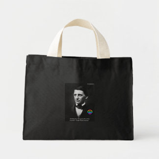 """Emerson """"Peace Is Within"""" Wisdom Quote Gifts & Tee Mini Tote Bag"""