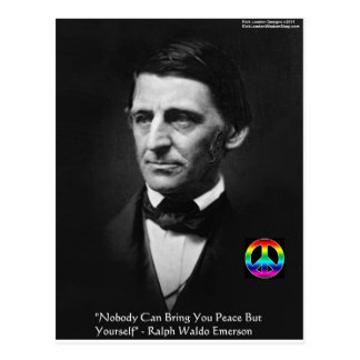 """Emerson """"Peace Is Within"""" Wisdom Quote Gifts & Tee Postcard"""