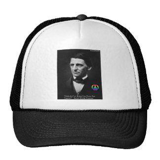 """Emerson """"Peace Is Within"""" Wisdom Quote Gifts & Tee Trucker Hat"""