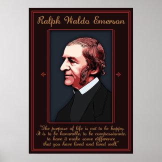 Emerson - propósito de la vida póster