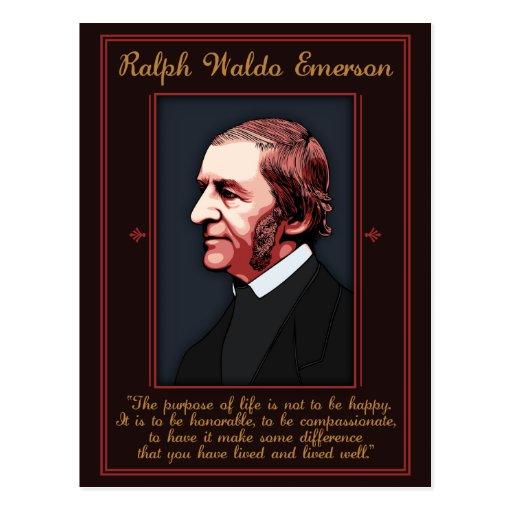 Emerson - Purpose of Life Postcard