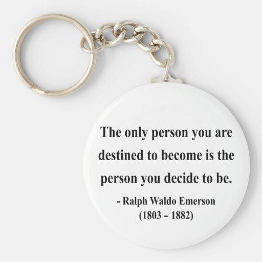 Emerson Quote 1a Basic Round Button Keychain