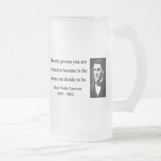 Emerson Quote 1b Frosted Glass Beer Mug