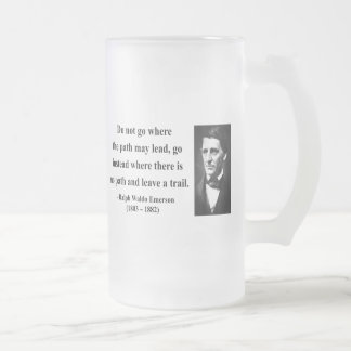 Emerson Quote 3b Frosted Glass Beer Mug