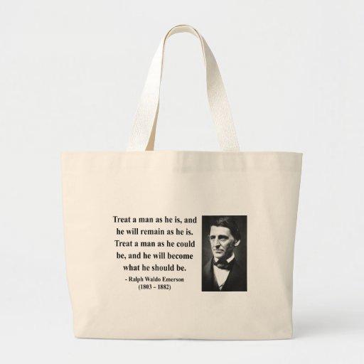 Emerson Quote 9b Jumbo Tote Bag