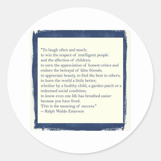 Emerson Quote Classic Round Sticker