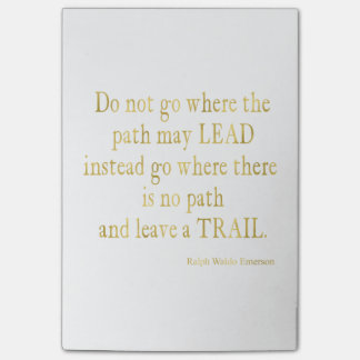 Emerson Quote Gold Faux Glitter Inspirational Post-it® Notes