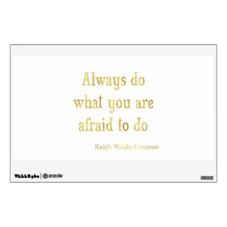 Emerson Quote Gold Faux Glitter Inspirational Wall Decal