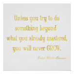 Emerson Quote Gold Faux Glitter Metallic Sequins Poster