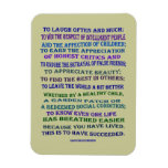 Emerson quote on success rectangular photo magnet