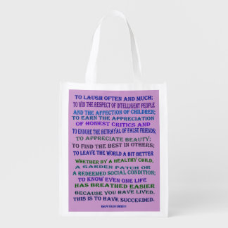 Emerson quote on success market totes