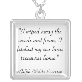 Emerson Quote Silver Plated Necklace