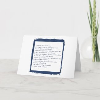 Emerson Quote Stationery Card