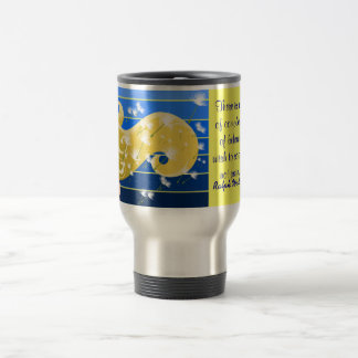 Emerson quote travel  mug