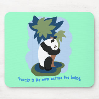 Emerson Quote with Endangered Panda Mouse Pad
