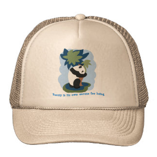 Emerson Quote with Endangered Panda Trucker Hat