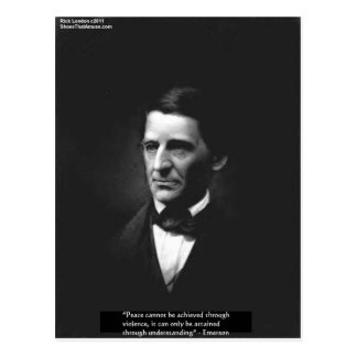 """Emerson """"Understanding"""" Peace Quote Gifts & Cards"""