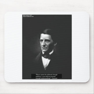 """Emerson """"Understanding"""" Peace Quote Gifts & Cards Mouse Pad"""
