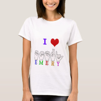 EMERY ASL FINGERSPELLED NAME SIGN T-Shirt