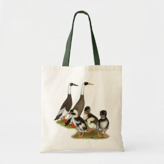 Emery Penciled Runner Duck Family Tote Bag