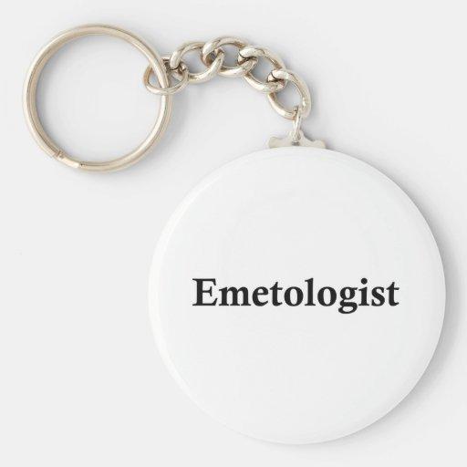 Emetologist Basic Round Button Keychain