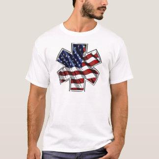 EMI Star of Life US Flag art T-Shirt