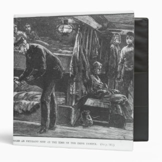 Emigrant Ship at the Time of the Irish Famine 3 Ring Binder