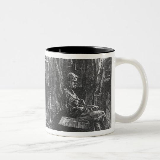 Emigrant Ship at the Time of the Irish Famine Two-Tone Coffee Mug