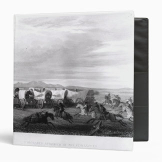 Emigrants attacked by the Comanches Vinyl Binders