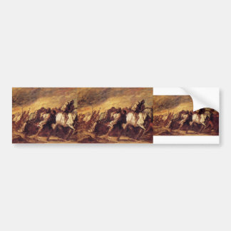 Emigrants or Fugitives by Honore Daumier Car Bumper Sticker