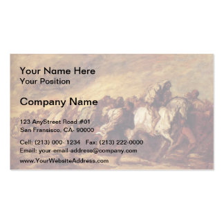 Emigrants or Fugitives by Honore Daumier Business Cards