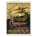 Emile Bertrand poster Jules Massenet's Cendrillon Greeting Card