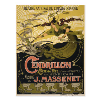 Emile Bertrand poster Jules Massenet's Cendrillon Postcard