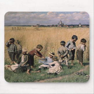 Emile Claus - On the Way to School (Cropped) Mouse Pad