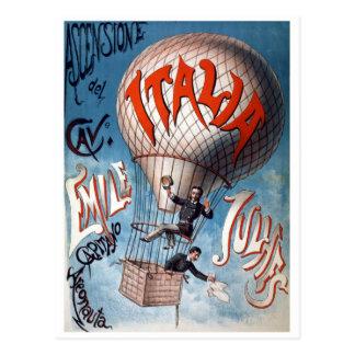 Emile Julhes Balloonist Vintage Illustration Postcard