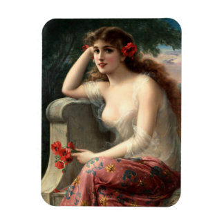 Emile Vernon Girl with a Poppy Magnet