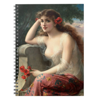 Emile Vernon Girl with a Poppy Notebook